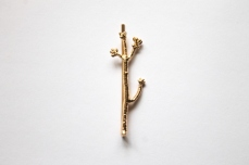 Gold Twig Bobby Pin