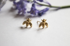 Gold Bumble Bee Studs