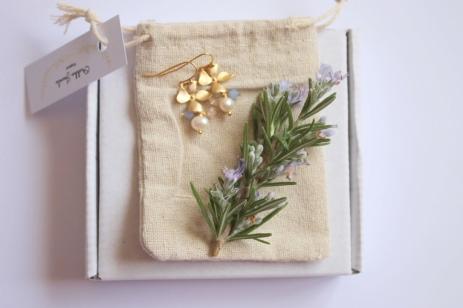 Hydrangea Pearl Earrings