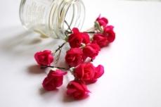 Vintage rose bobby pins