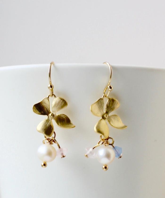 Hydrangea earrings Orchha Jewels