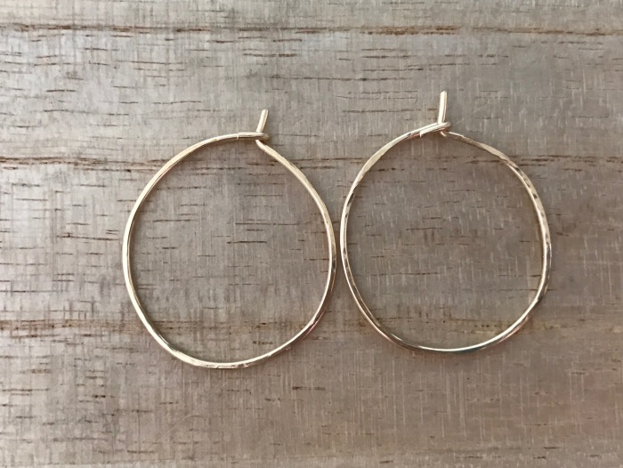 Hammered gold hoops Orchha Jewels