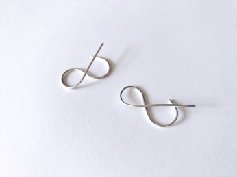 Sterling silver Ampersand earrings