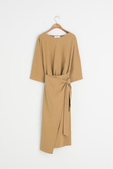 Mustard wrap dress
