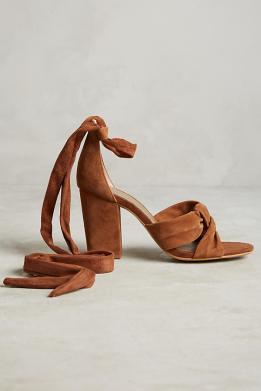 Seville suede knot sandals